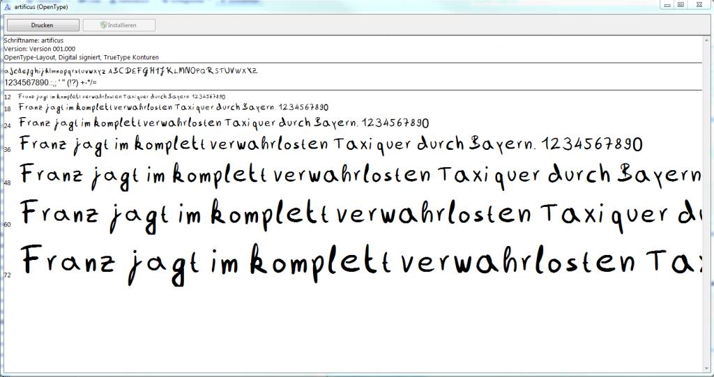 schriftart calligraphr font